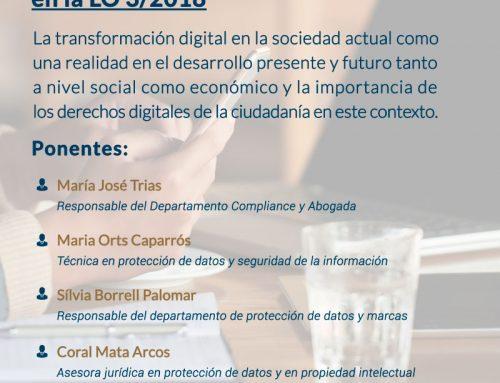 Webinar: La garantía de los derechos digitales en la LO 3/2018